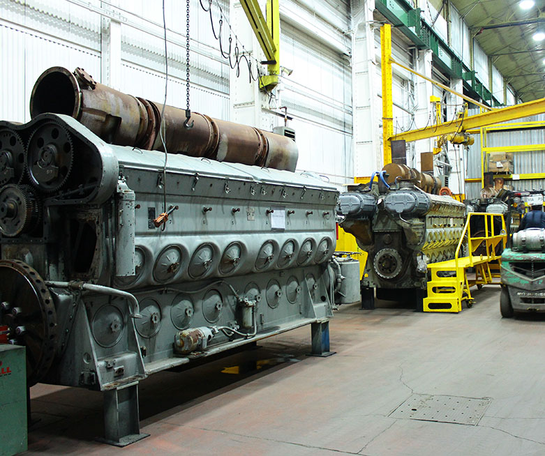 Full rail services for remanufacturing diesel components